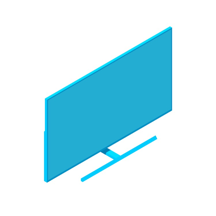 """View of the TCL 8-Series Roku Smart TV (75"""") in 3D available for download"""