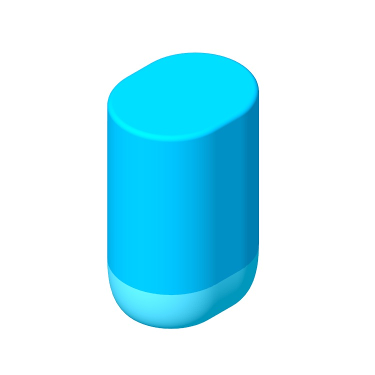 Perspective view of a 3D model of the Sonos Move Smart Speaker