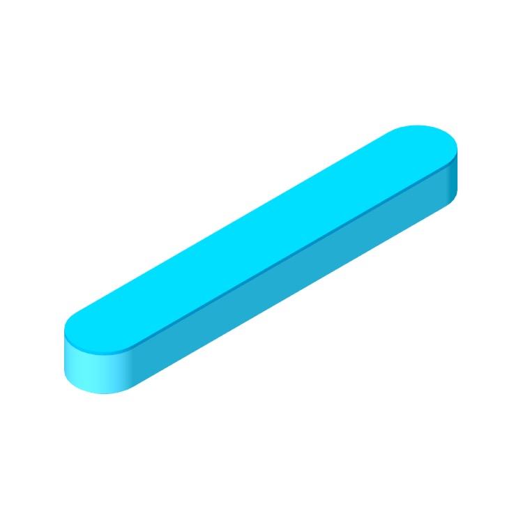 3D model of the Sonos Beam Smart TV Soundbar viewed in perspective