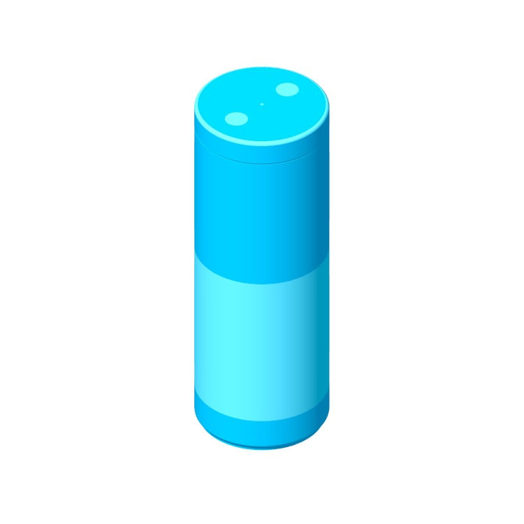 View of the Amazon Echo (1st Gen) in 3D available for download
