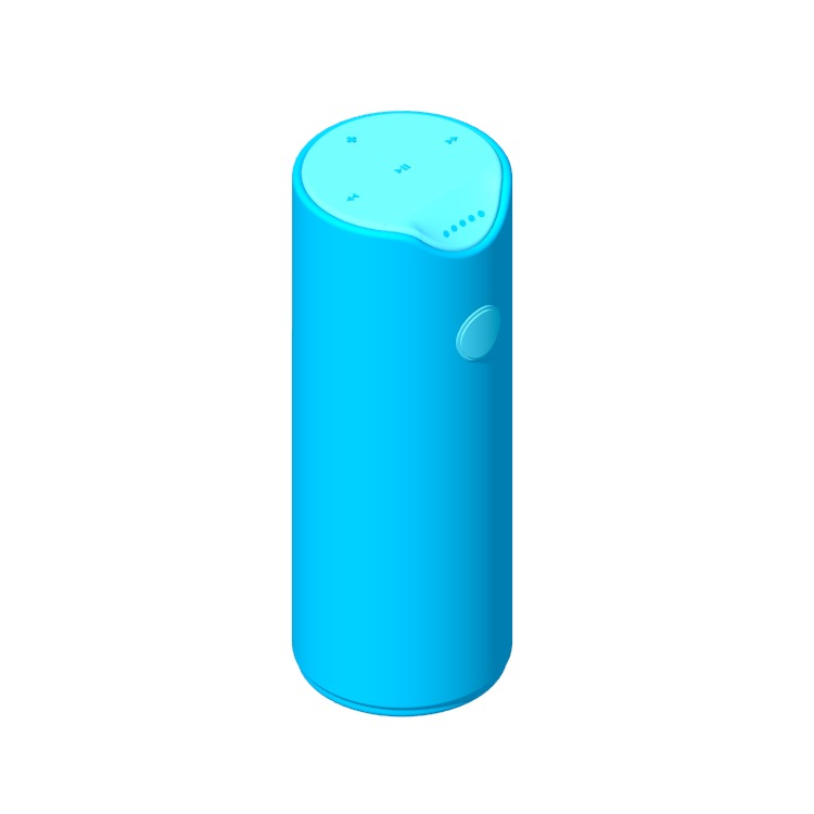 Perspective view of a 3D model of the Amazon Tap