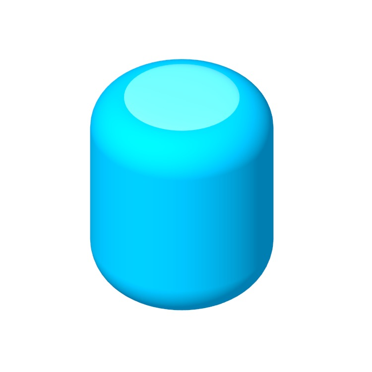 View of the Apple HomePod in 3D available for download