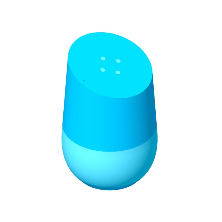 3D model of the Google Home viewed in perspective