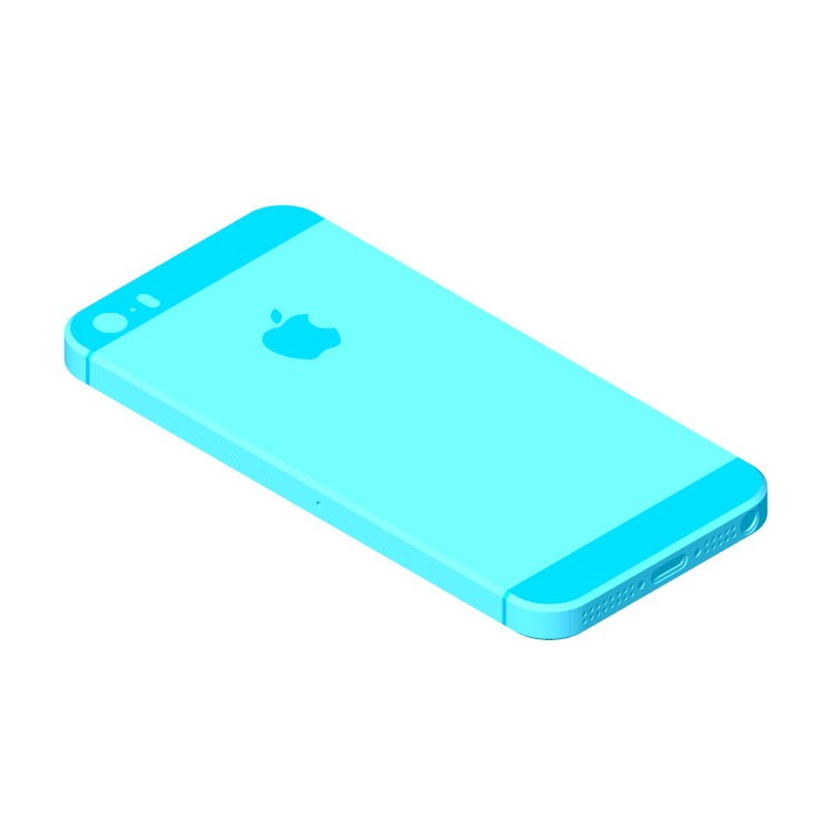 View of the Apple iPhone SE (9th Gen) in 3D available for download