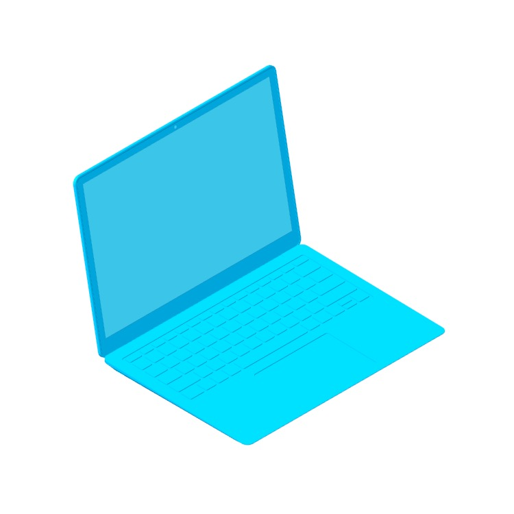 """View of the Microsoft Surface Laptop 3 (13.5"""") in 3D available for download"""