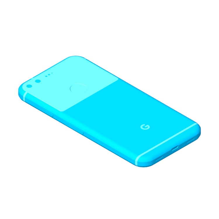View of the Google Pixel (1st Gen) in 3D available for download