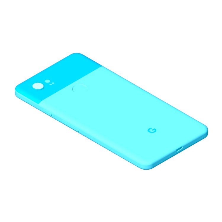 View of the Google Pixel 2 XL (2nd Gen) in 3D available for download