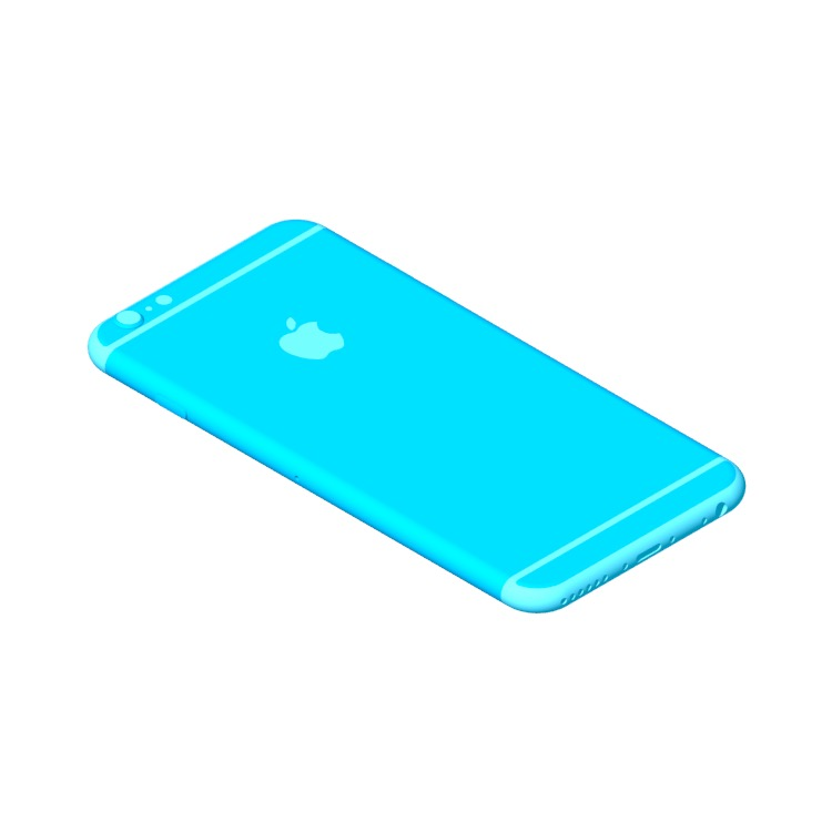 View of the Apple iPhone 6 (8th Gen) in 3D available for download
