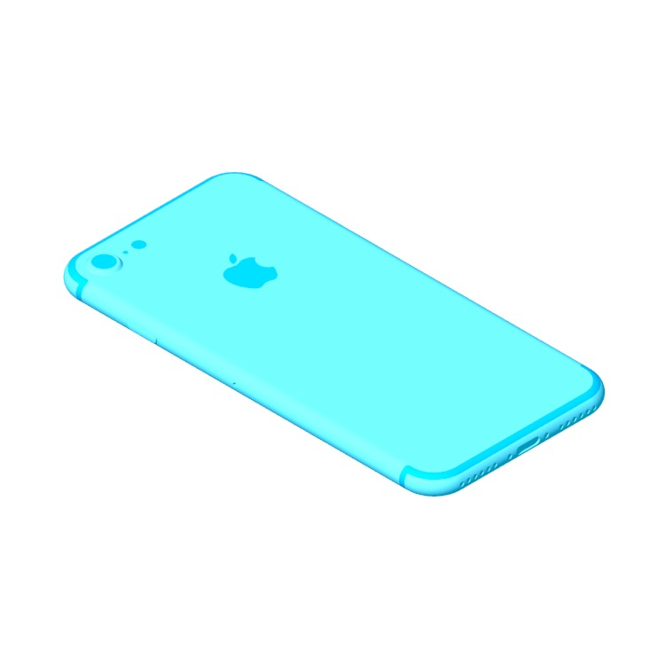 3D model of the Apple iPhone 7 (10th Gen) viewed in perspective