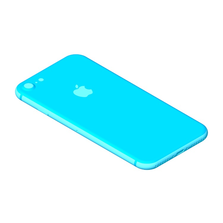 3D model of the Apple iPhone 8 (11th Gen) viewed in perspective