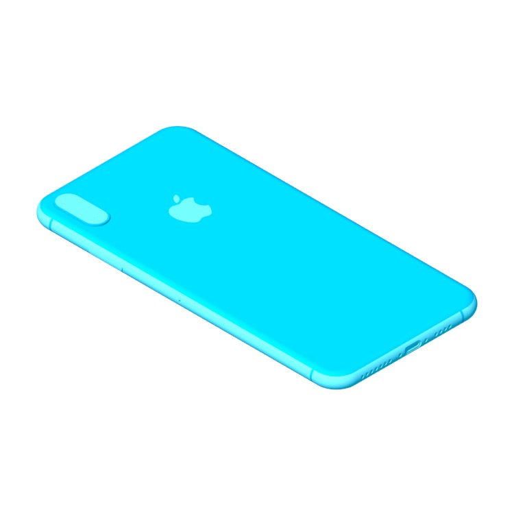3D model of the Apple iPhone XS Max (12th Gen) viewed in perspective