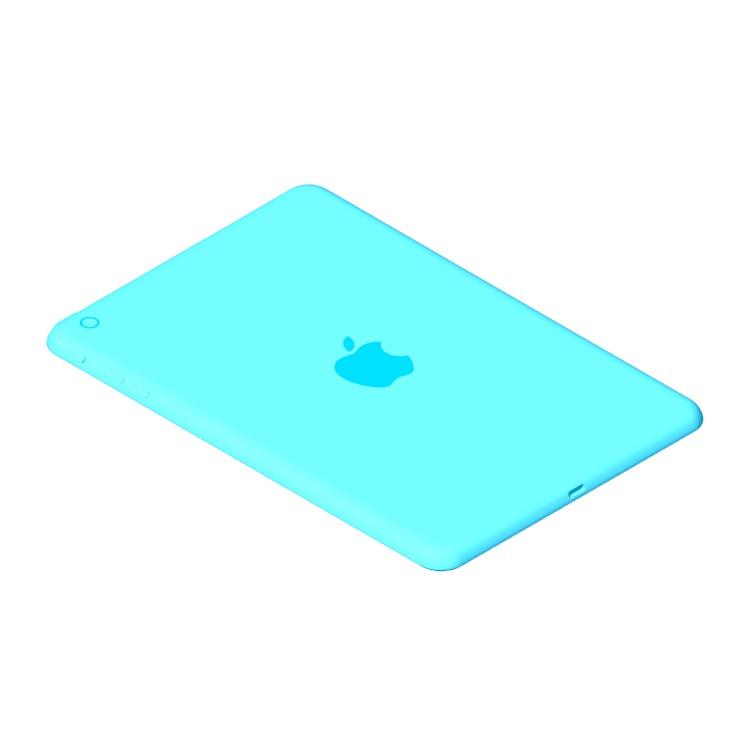 3D model of the Apple iPad Mini (1st Gen) viewed in perspective