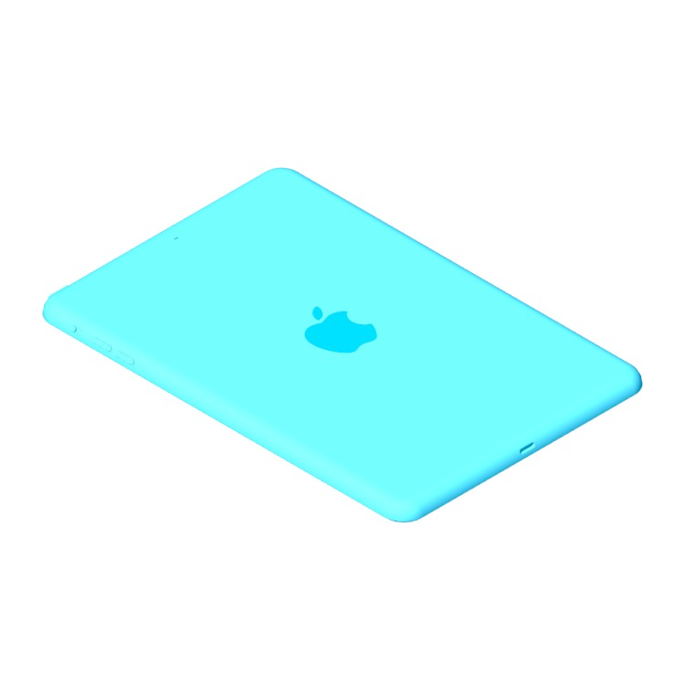 View of the Apple iPad Mini 3 (3rd Gen) in 3D available for download