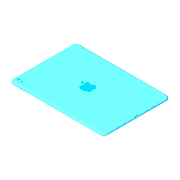 "3D model of the Apple iPad Pro - 9.7"" (1st Gen) viewed in perspective"