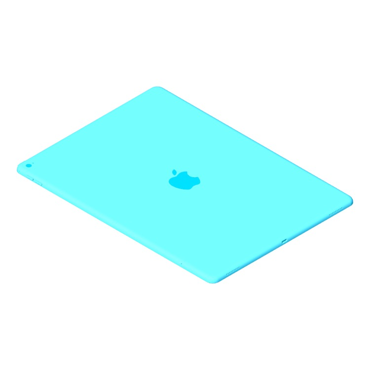 """Perspective view of a 3D model of the Apple iPad Pro - 12.9"""" (1st Gen)"""
