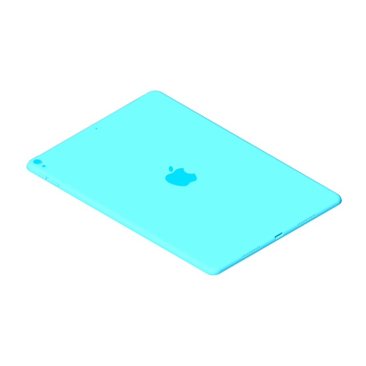 """View of the Apple iPad Pro - 10.5"""" (2nd Gen) in 3D available for download"""