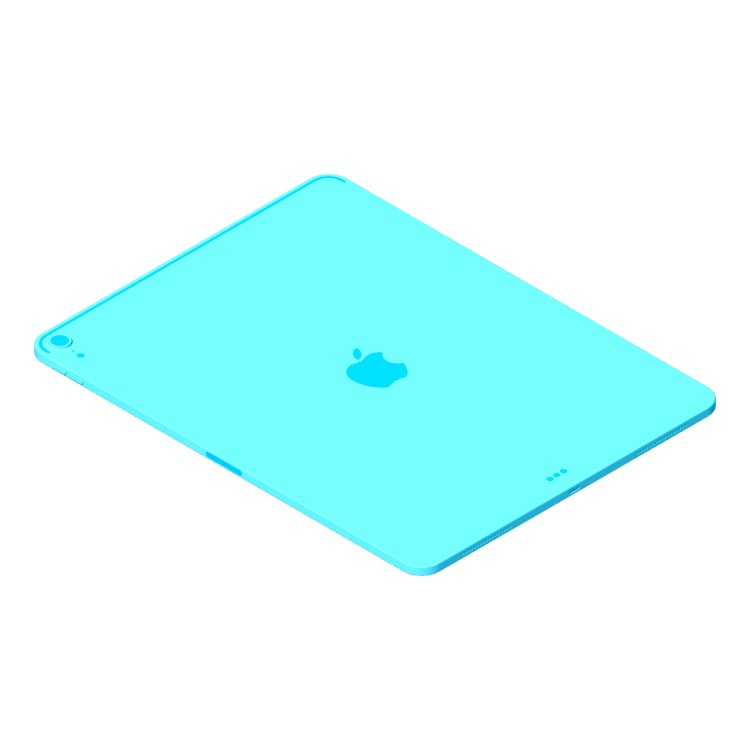 """View of the Apple iPad Pro - 12.9"""" (3rd Gen) in 3D available for download"""