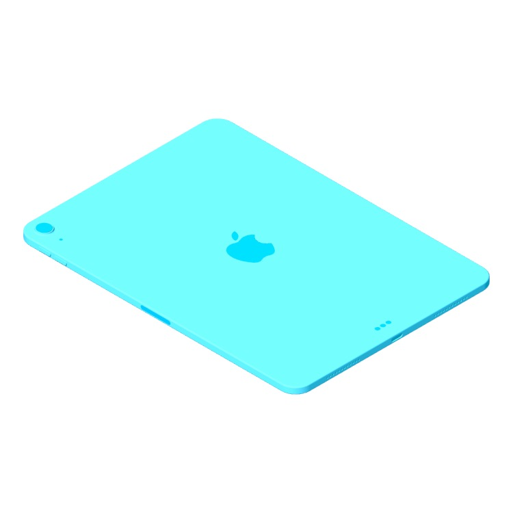 3D model of the Apple iPad Air (4th Gen) viewed in perspective