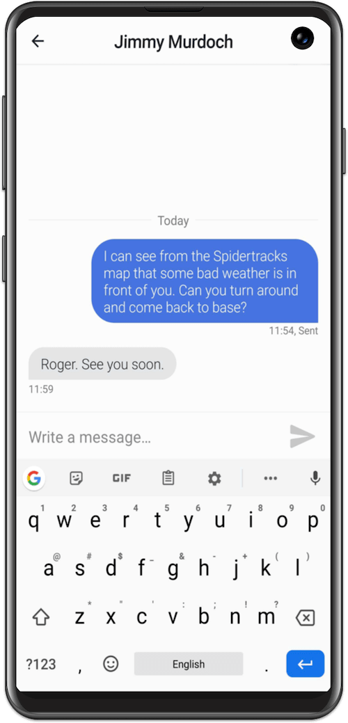 Spidertxt Two Way Aircraft Communication