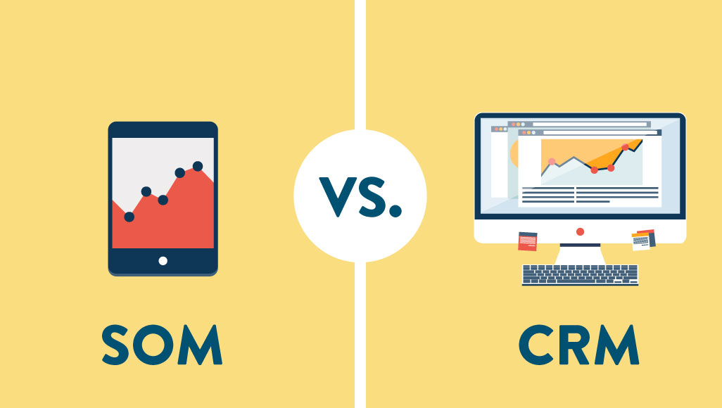Sales order management vs. CRM|