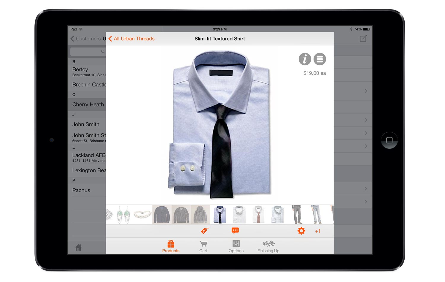 Touch Screen Order Entry App