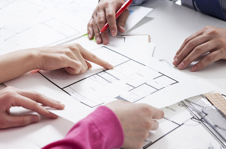 Looking over house plans for problems that come from buying off the plan