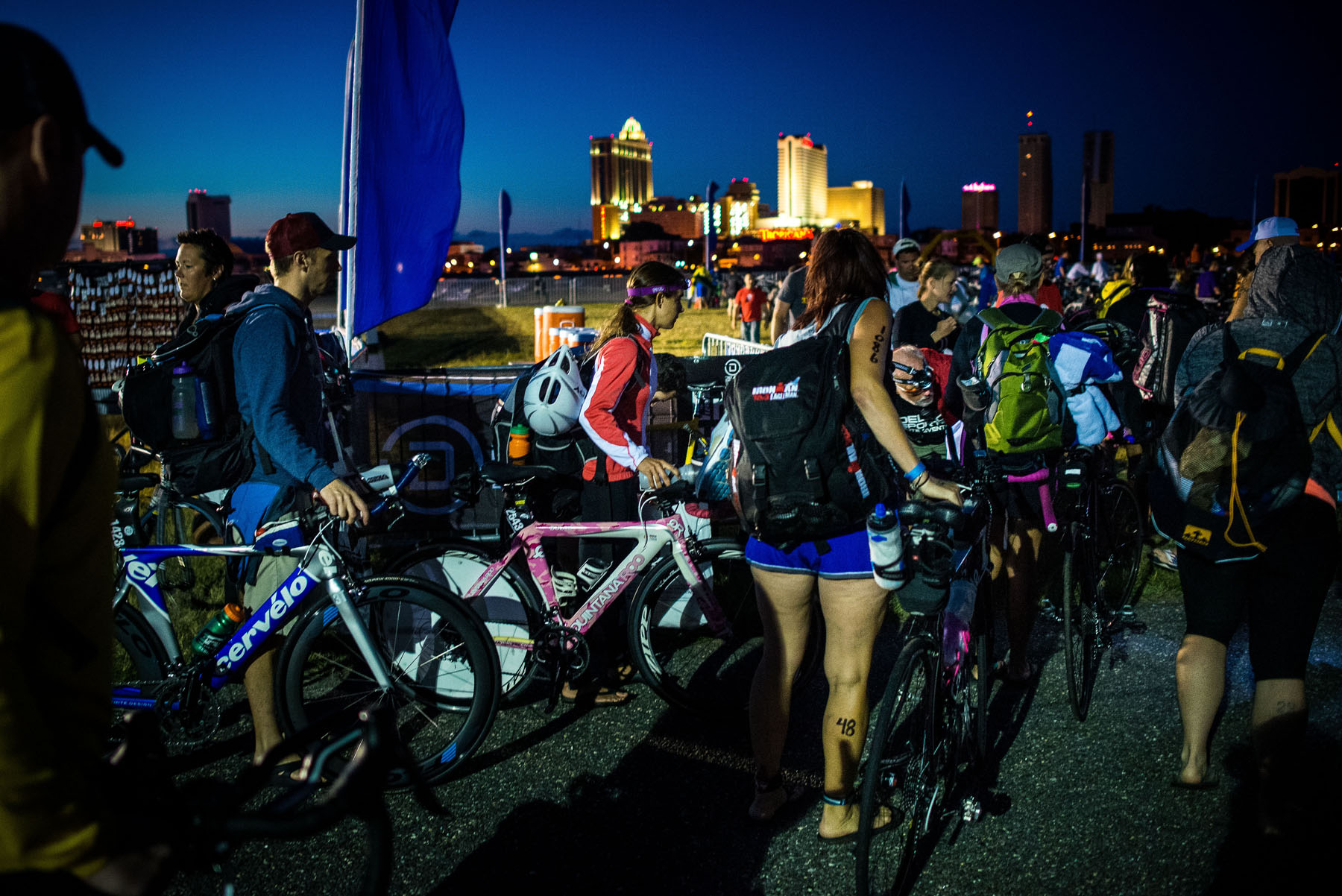 night bikes enter - Atlantic City Triathlon