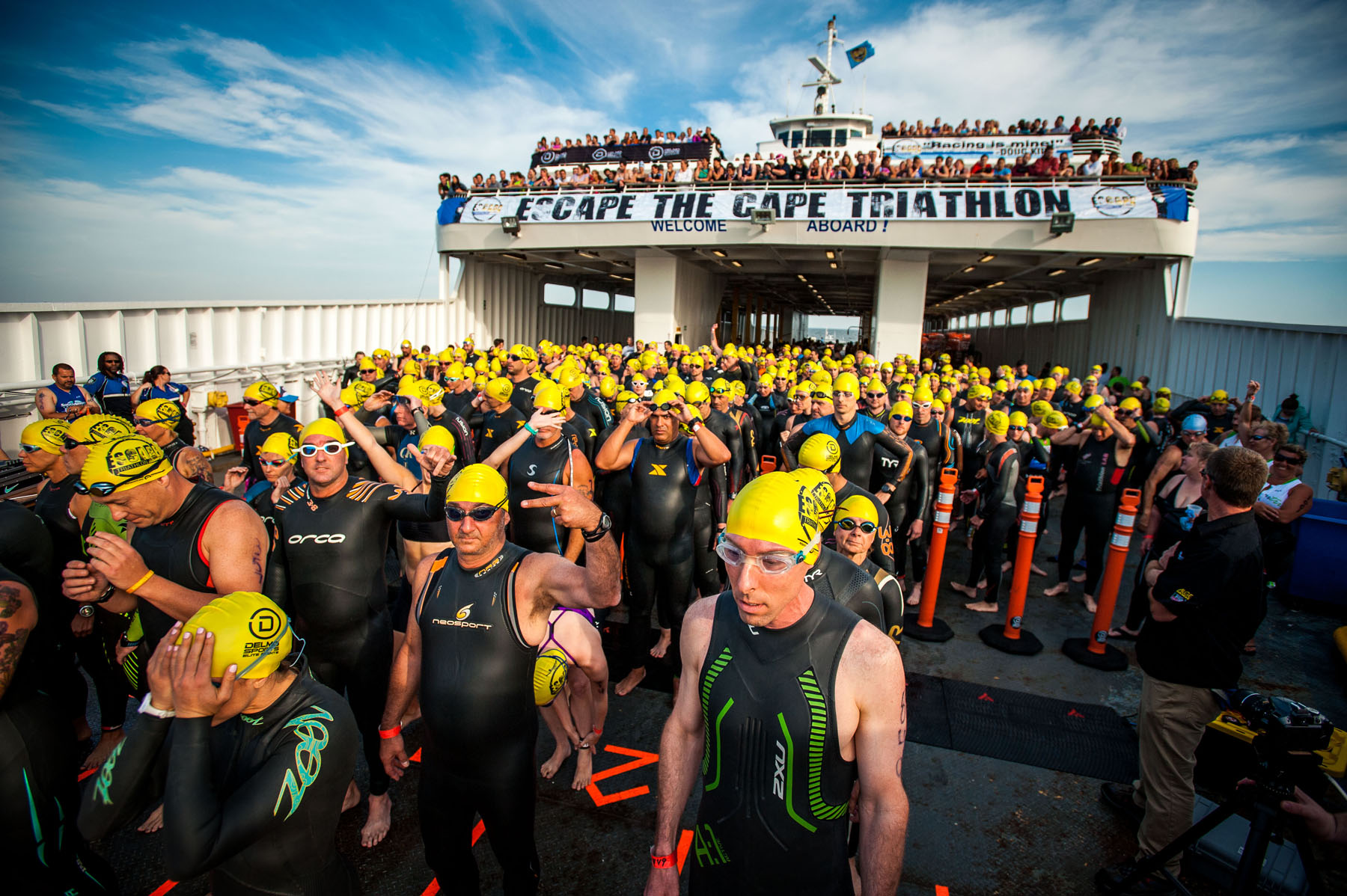 Anxious triathletes  - Escape The Cape Triathlon