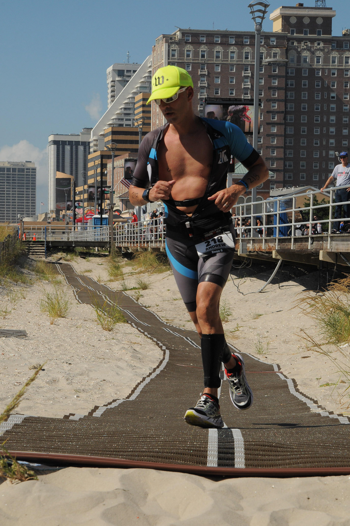 boardwalk city bg beach runway - Ironman 70.3 Atlantic City