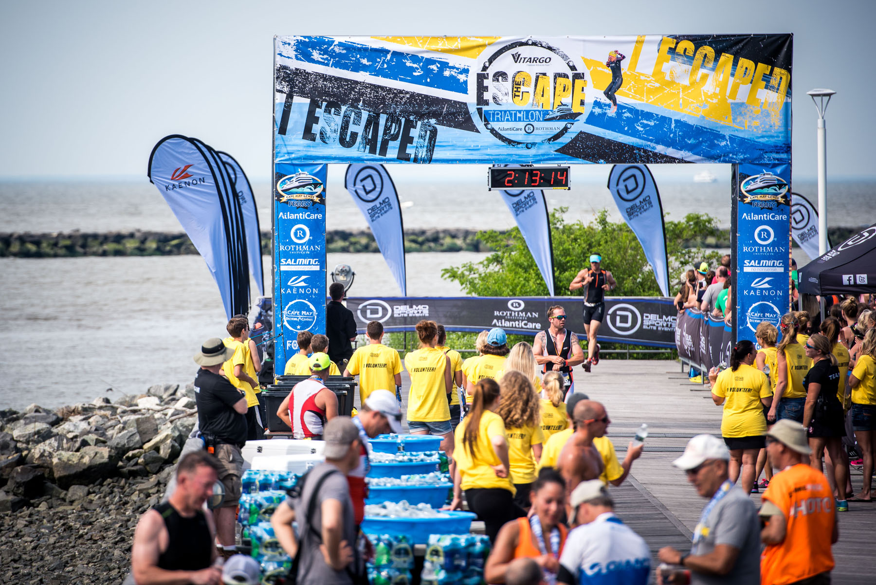 The finish line  - Escape The Cape Triathlon
