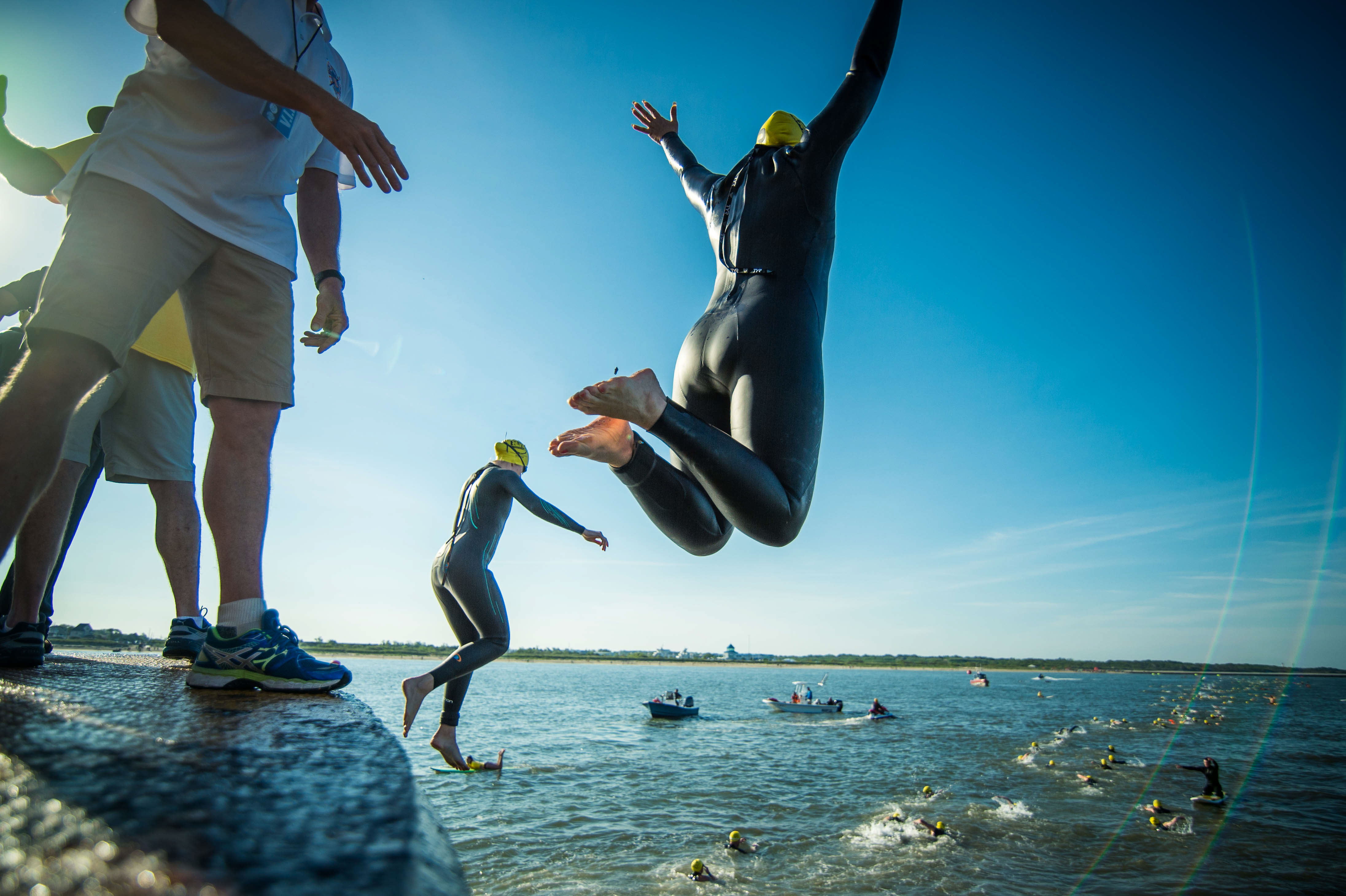 jump happiness  - Escape From Lewes Open Water Classic