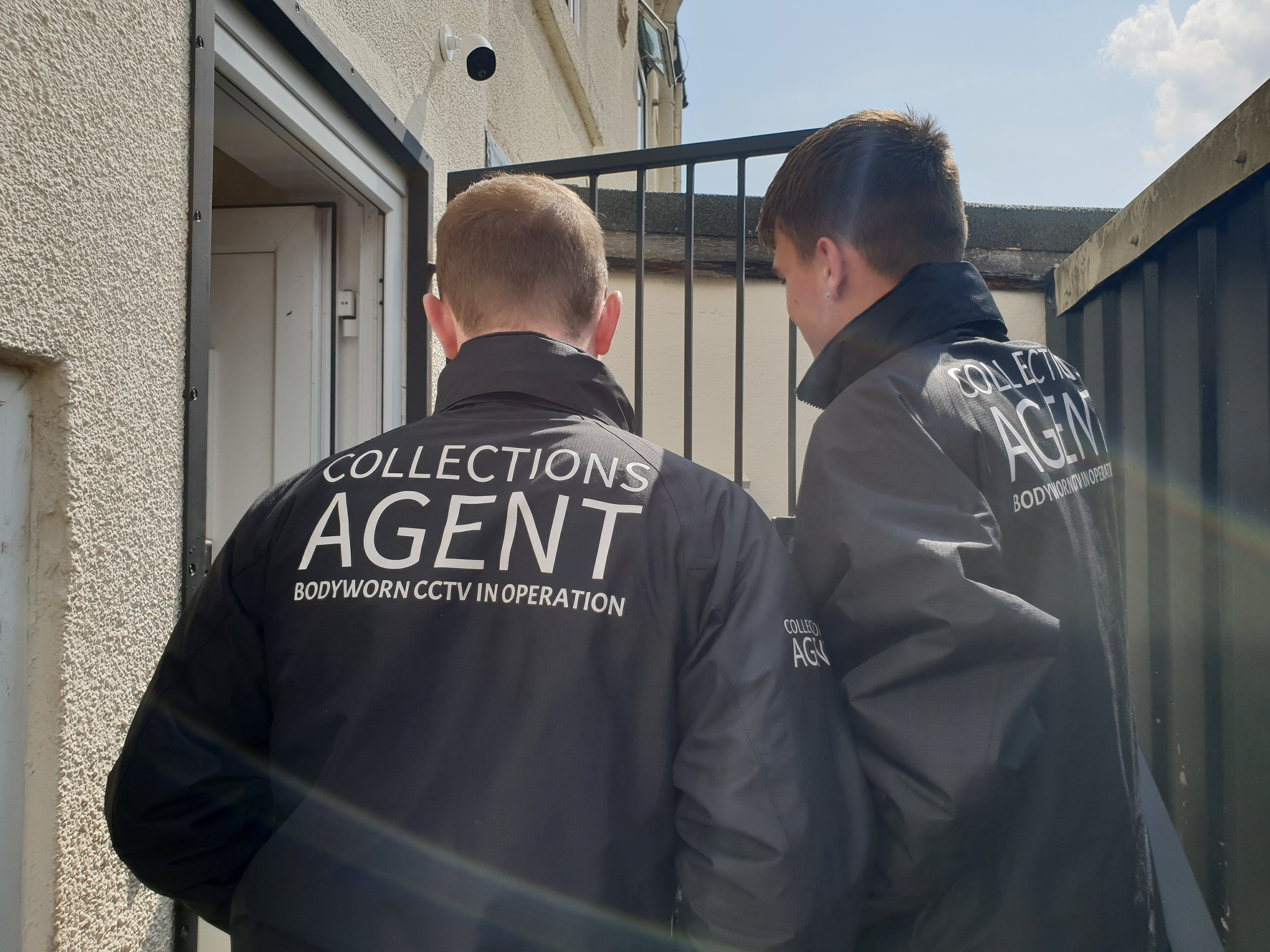 Back of debt collections agent