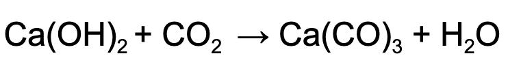 Carbonatação do Hidróxido de Cálcio