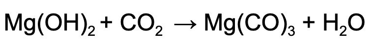 Carbonatação do Hidróxido de Magnésio