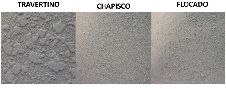 Textura projetada - travertino, chapisco, flocado