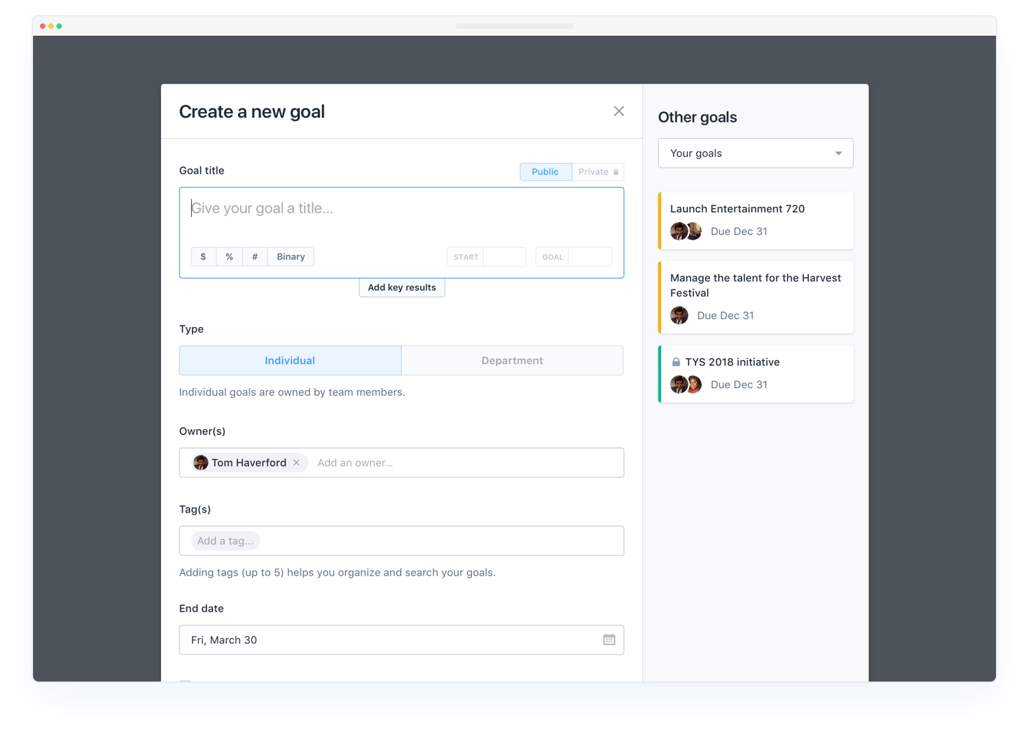 Okr And Smart Goal Management For Employees Employee Goals Template Okrs
