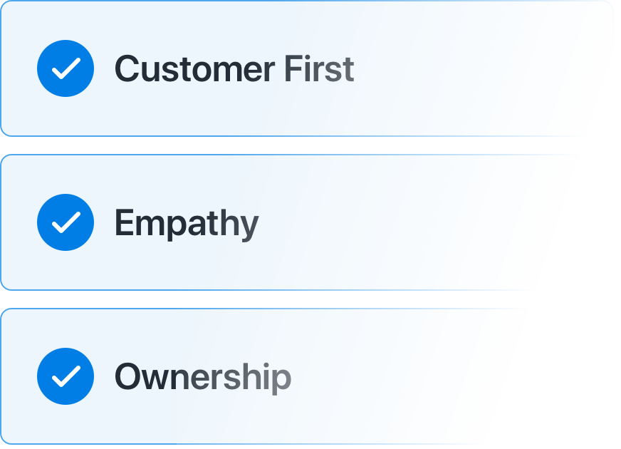 Feedback tied to Company Values