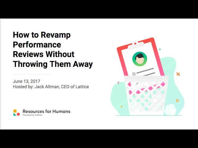 How to revamp performance reviews without throwing them away