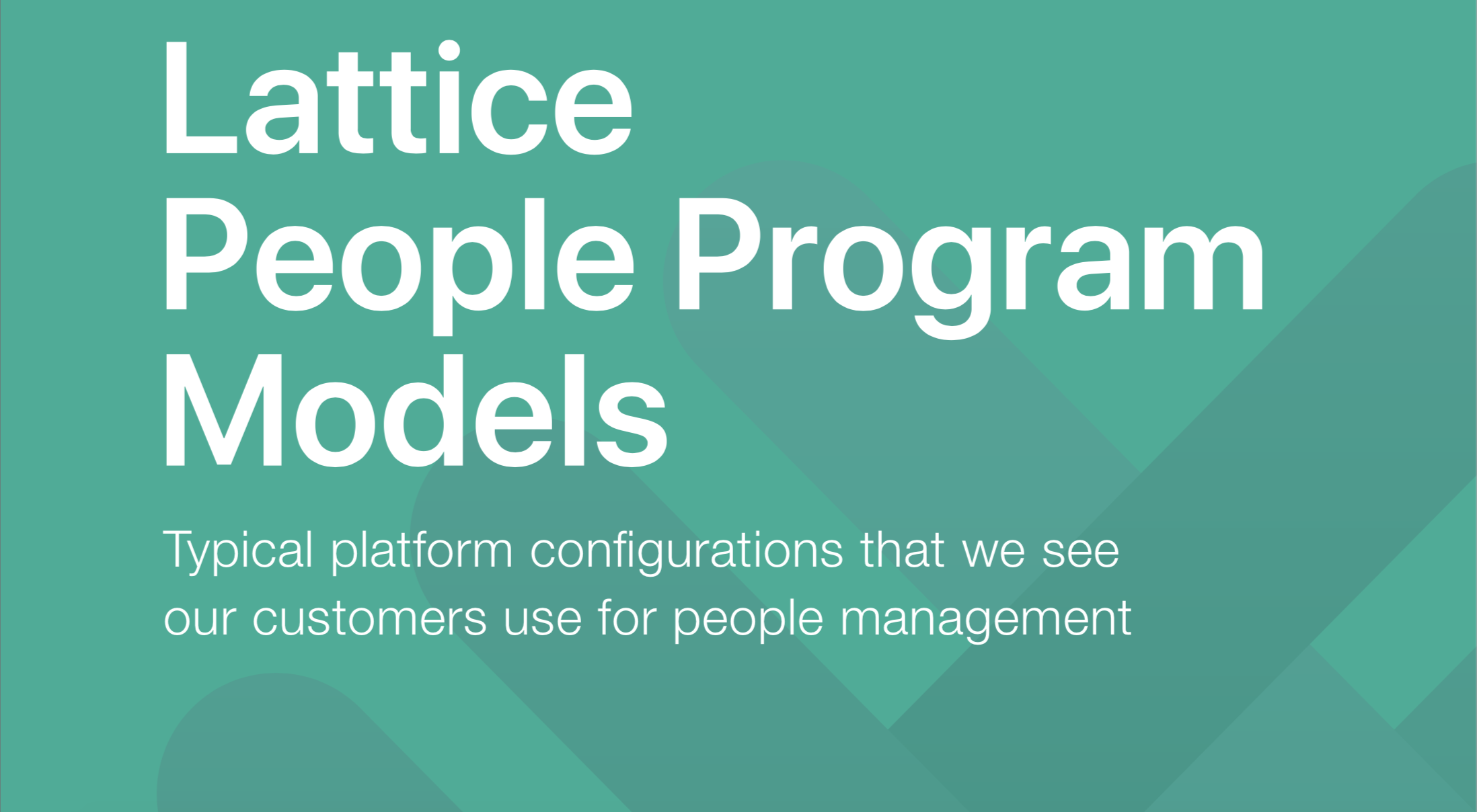 People Management Program Models