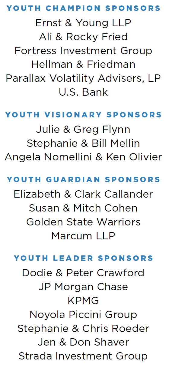 Youth of the Year sponsors