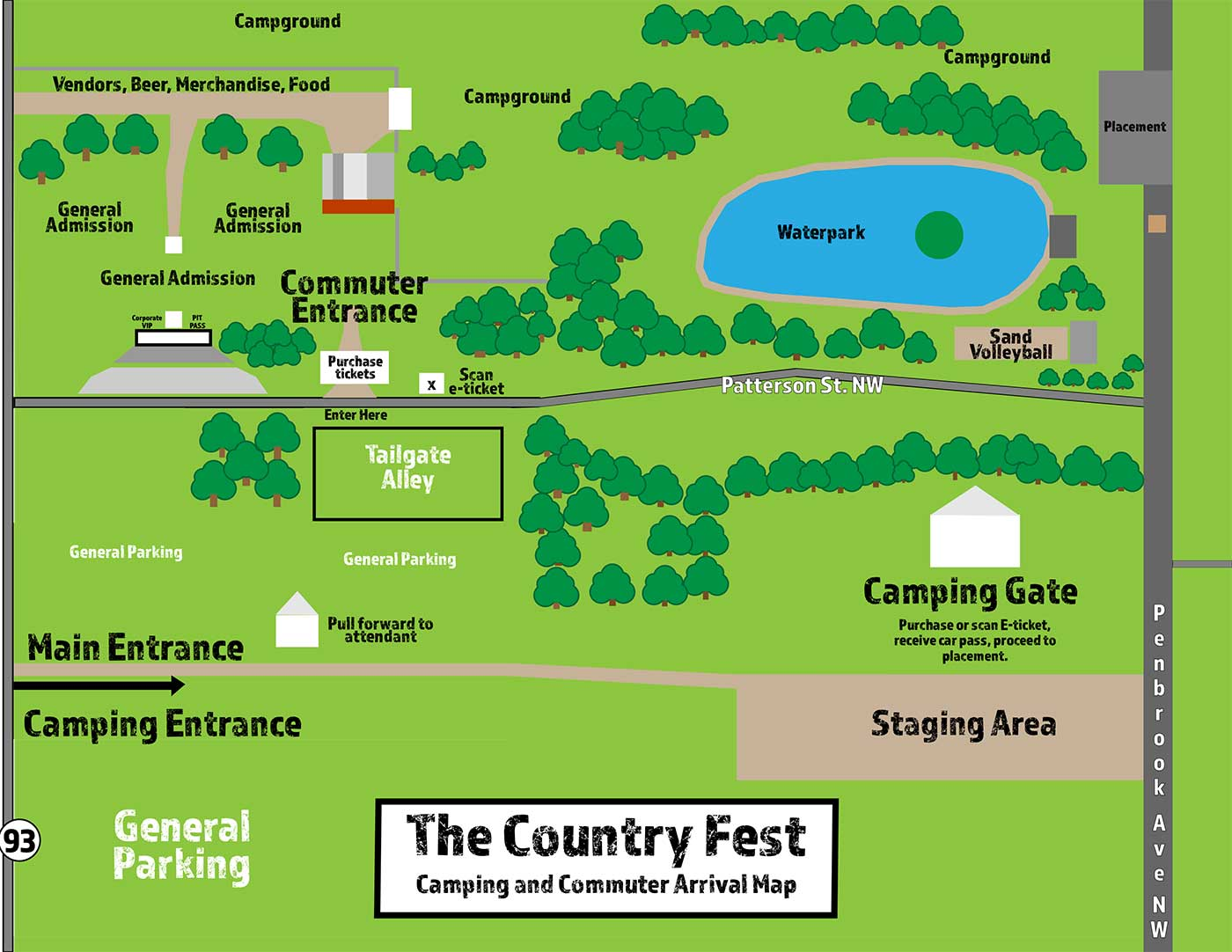 Country Fest 2019 Map