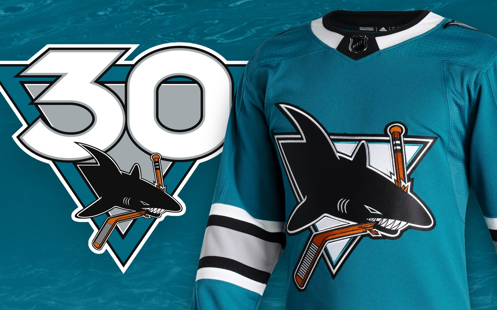 Sharks unveil logo, throwback jersey to mark 30 years