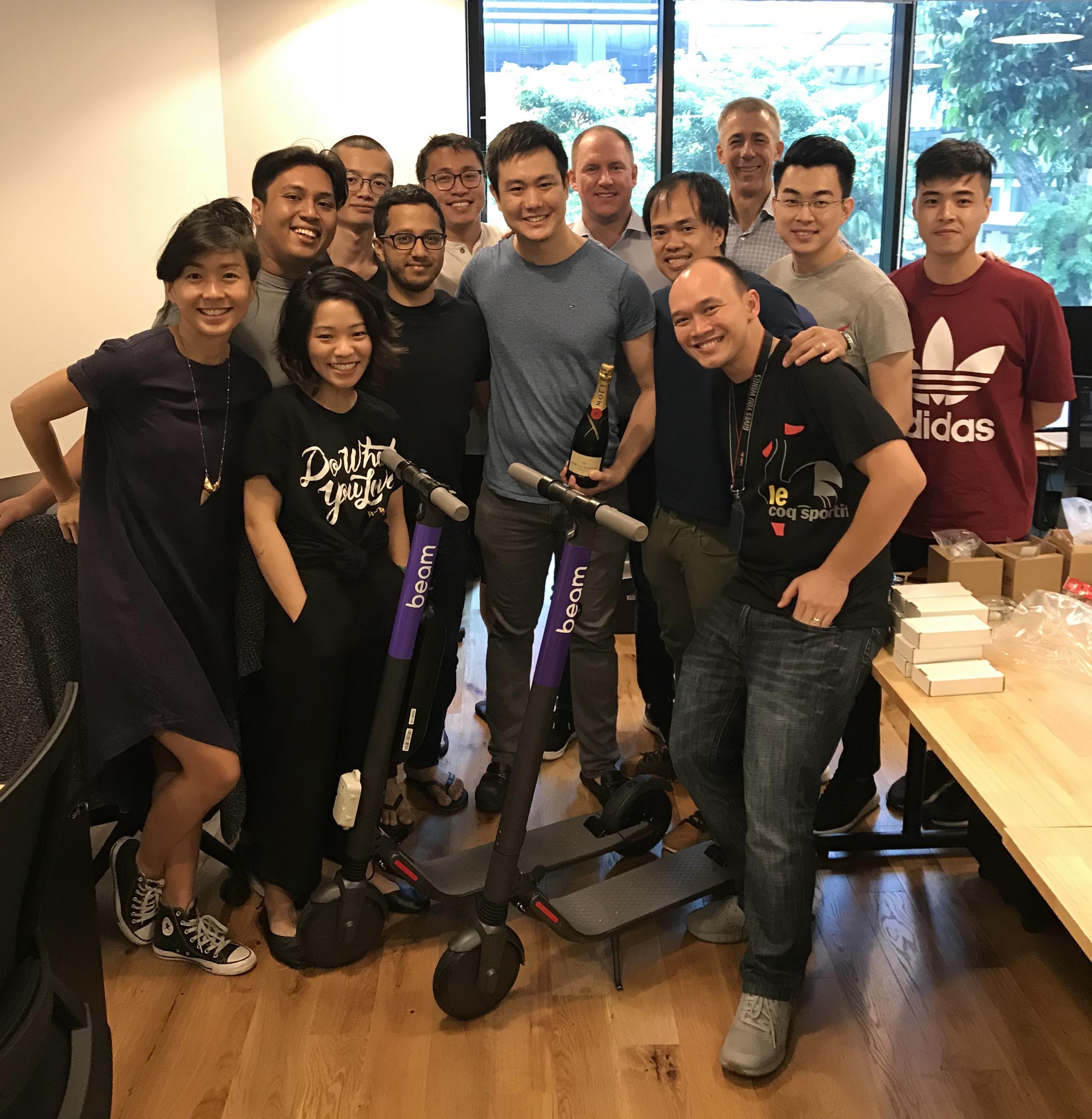 Beam scooter team Singapore