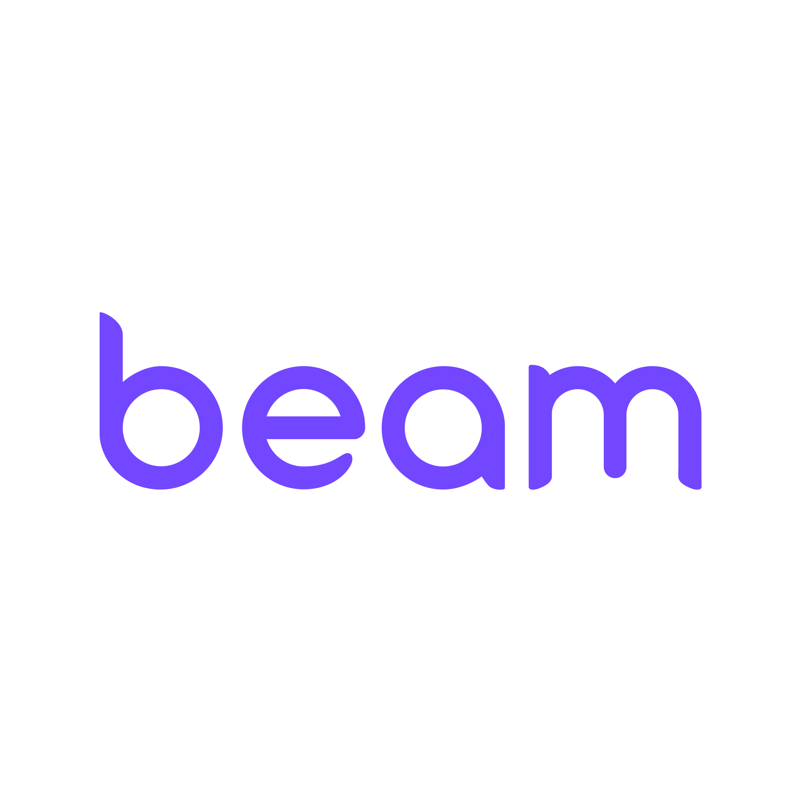Beam white logo
