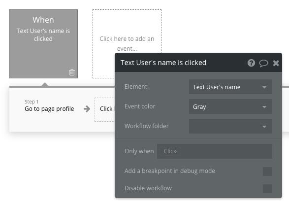 Bubble No Code Facebook Clone Profile Page Workflow