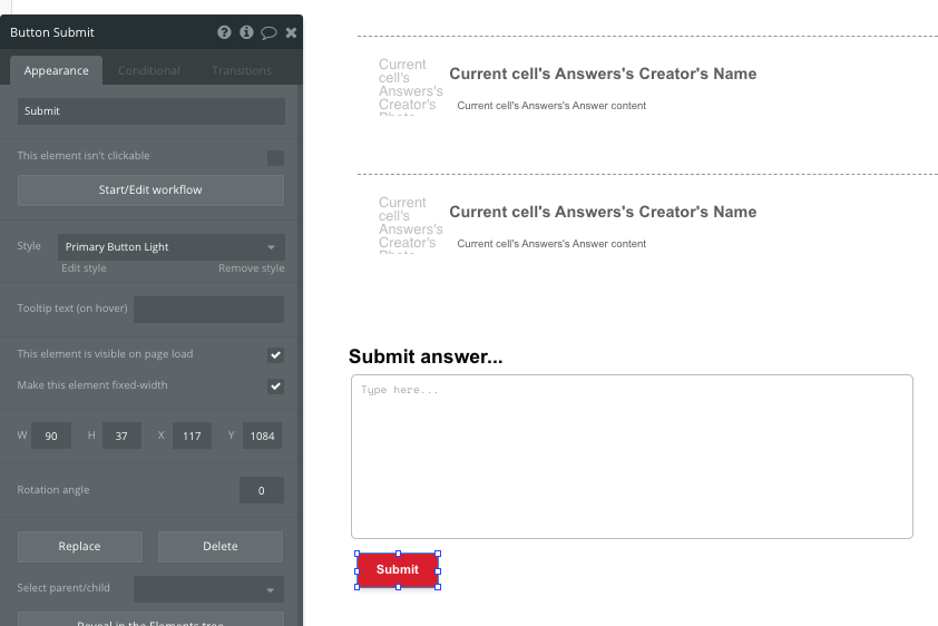 Bubble Quora No Code Submit Answer Workflow