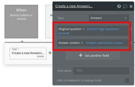 Bubble Quora No Code Create Answer Workflow