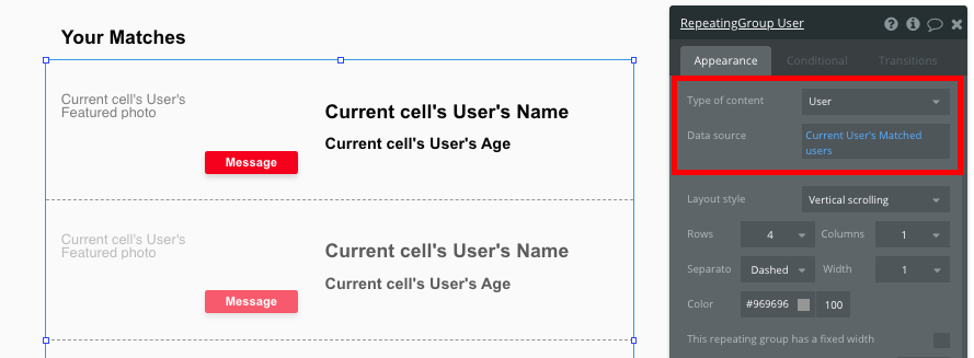 Bubble No Code Tinder Clone Tutorial Walkthrough