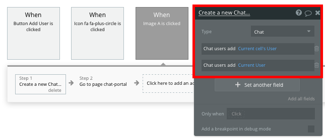 Create New Chat with Bubble Whatsapp Clone Workflow Walkthrough