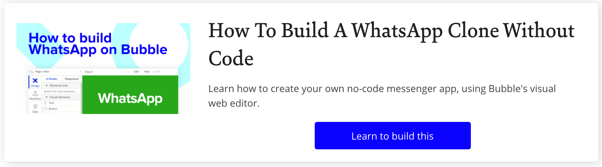 How To Build Whatsapp in Bubble with No Code Tutorial